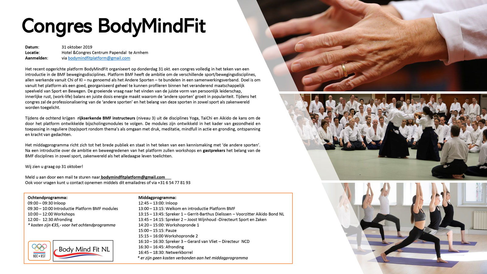 Body Mind Fit congres donderdag 31 oktober
